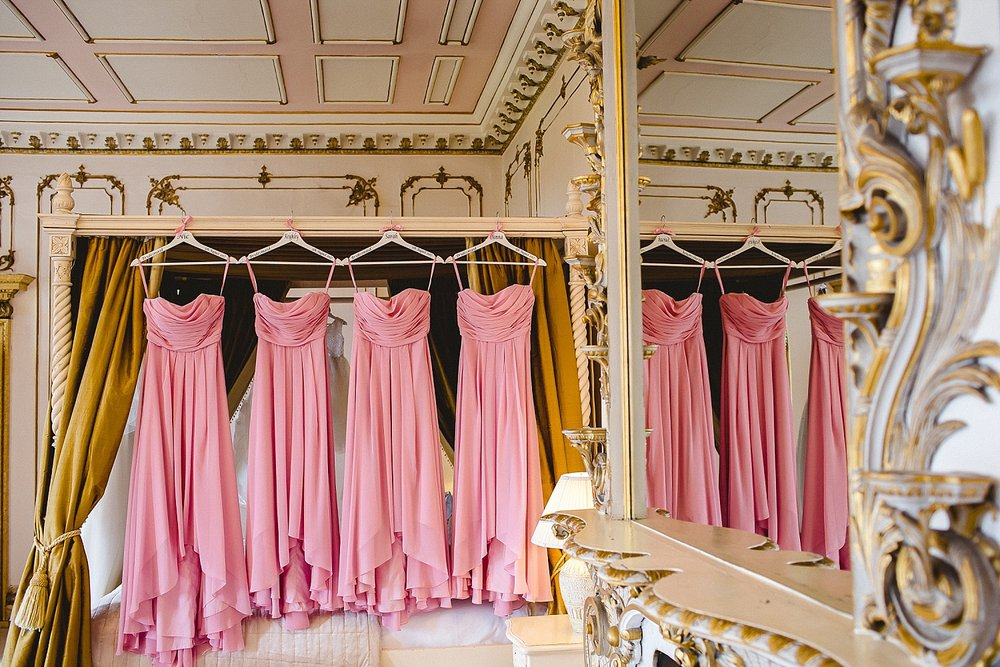 Gosfield Hall Wedding - Essex Wedding Photographer - Bridesmaid's Dresses