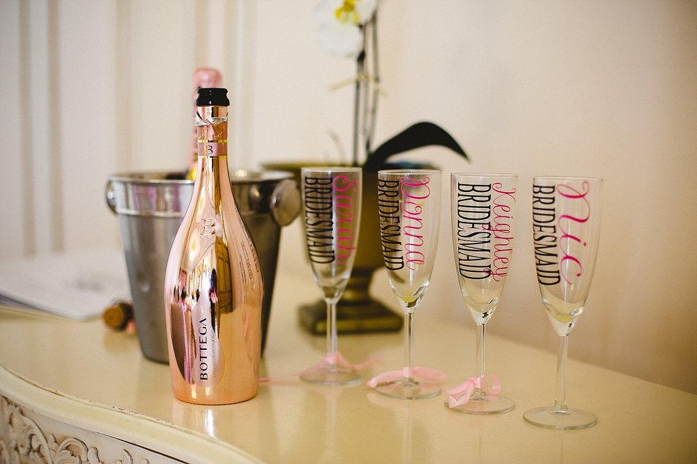 Gosfield Hall Wedding - Champagne Glasses