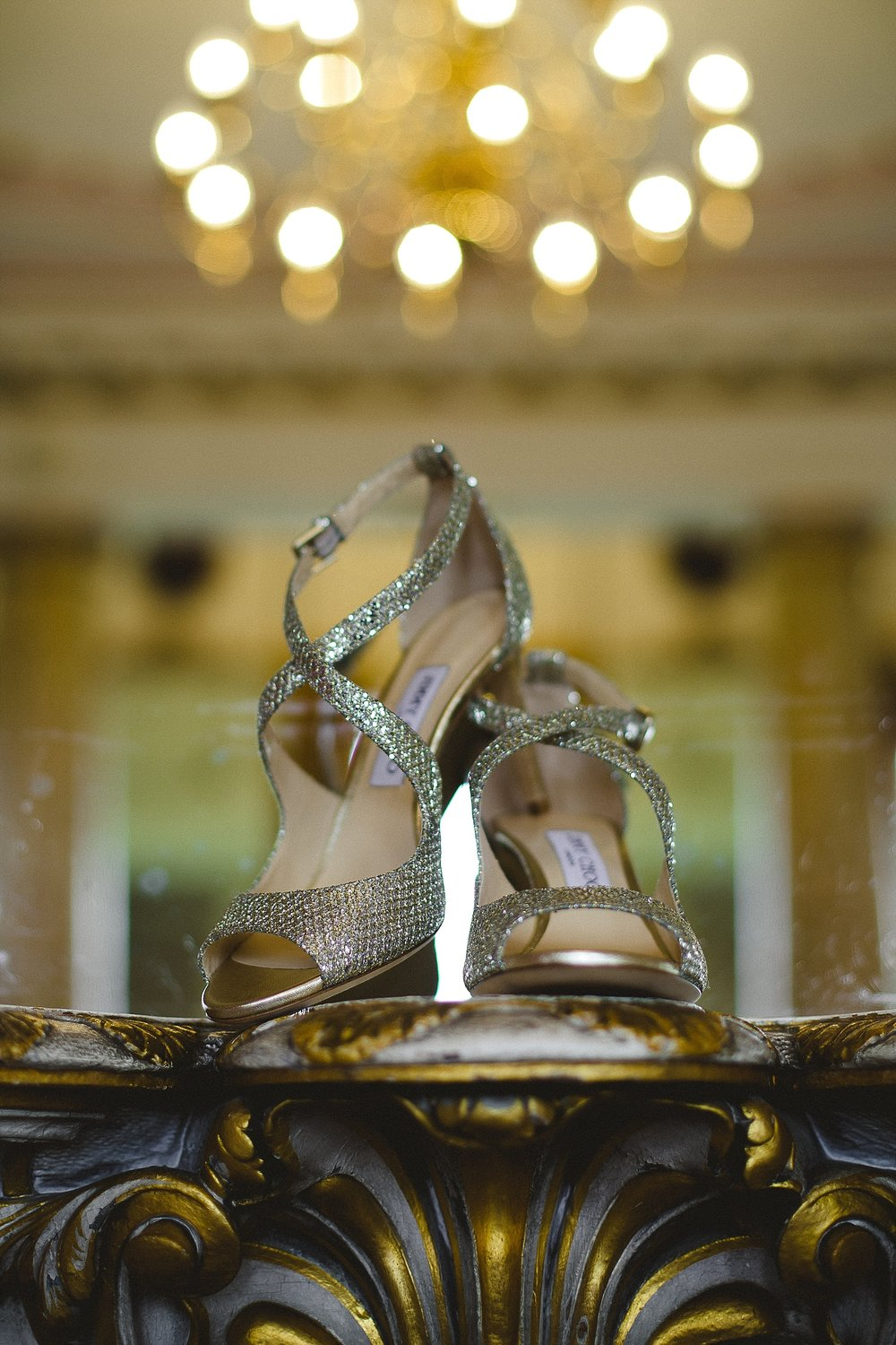 Bride's Shoes at Gosfield Hall Wedding
