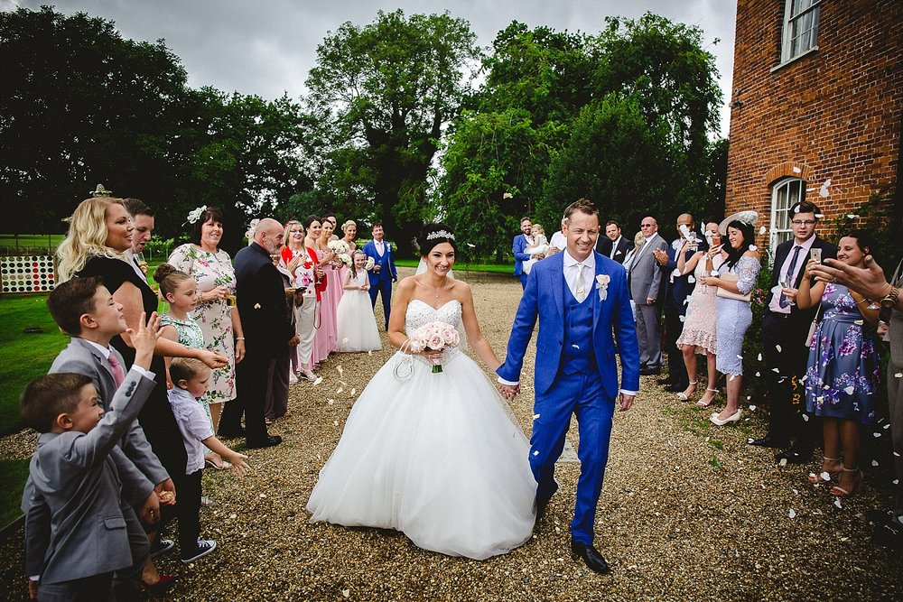 Essex Wedding Photographer - Gosfield Hall Wedding - Confetti