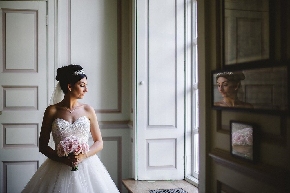 Gosfield Hall Wedding - Bridal Portraits in the House