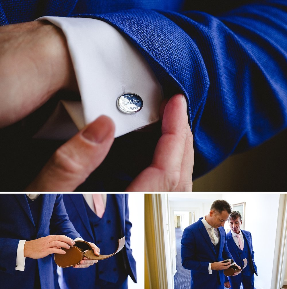 Gosfield Hall Essex Wedding - Groom Preparations