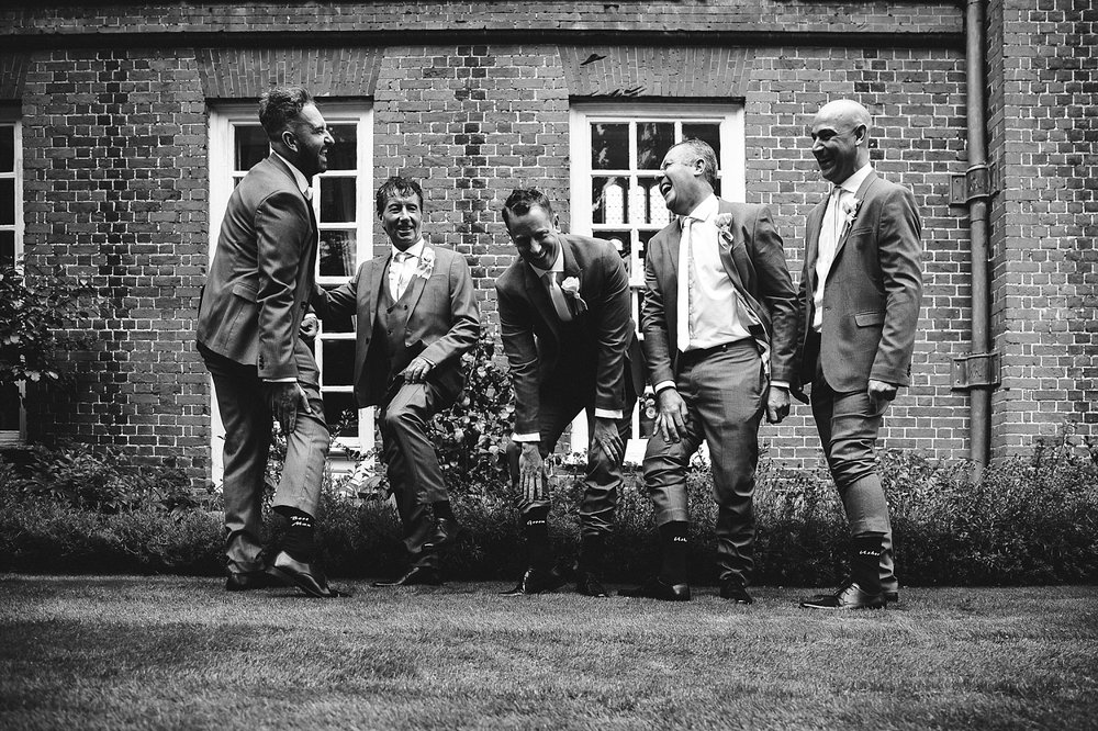 Groom's Party at Gosfield Hall Wedding
