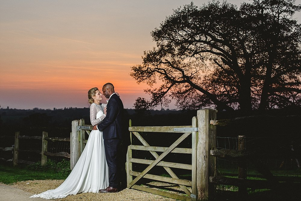 Gaynes Park Wedding at Sunset