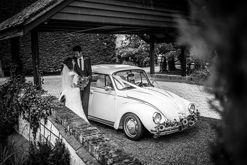 Old Brook Barn VW Beetle Wedding Car