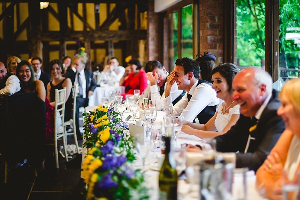 Old Brook Barn Essex Wedding Reception Speeches