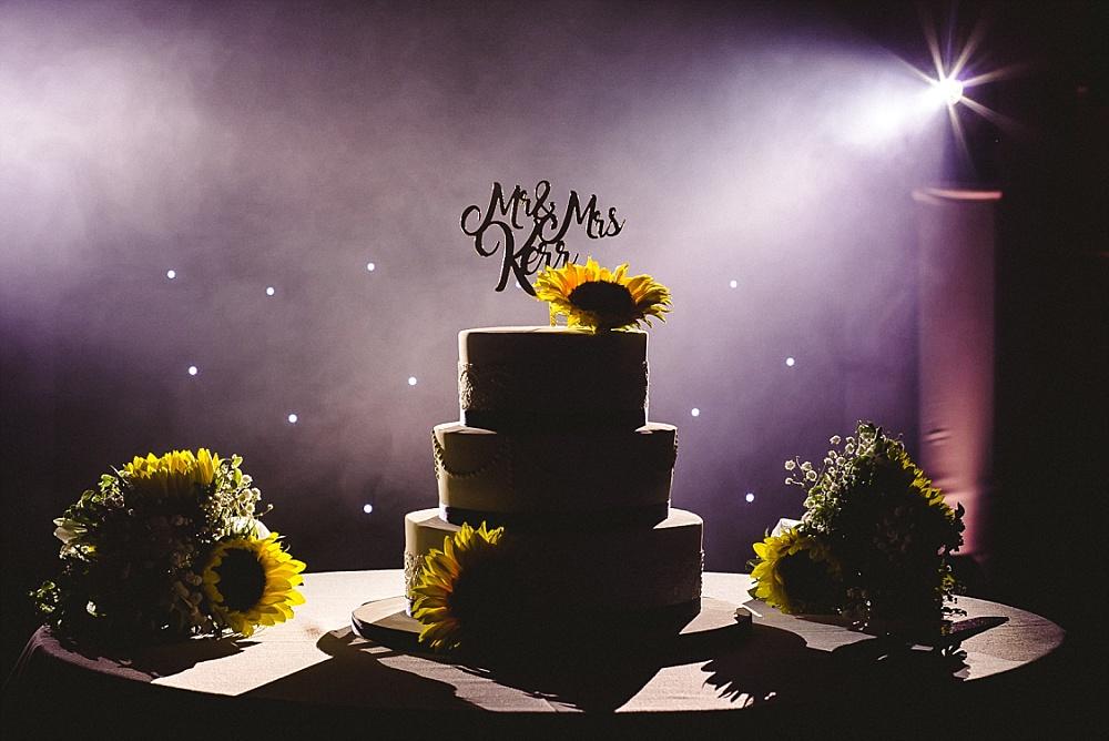 Old Brook Barn Essex Wedding Cake Cutting