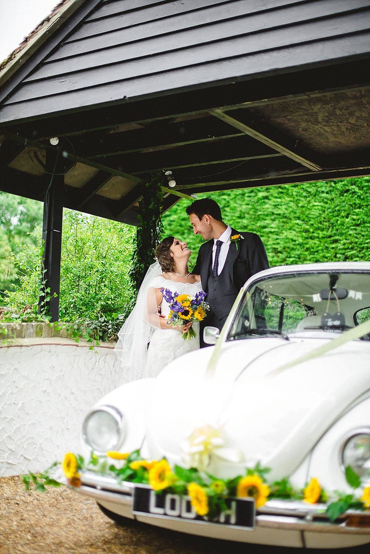 Old Brook Barn Outdoor VW Beetle Wedding Car