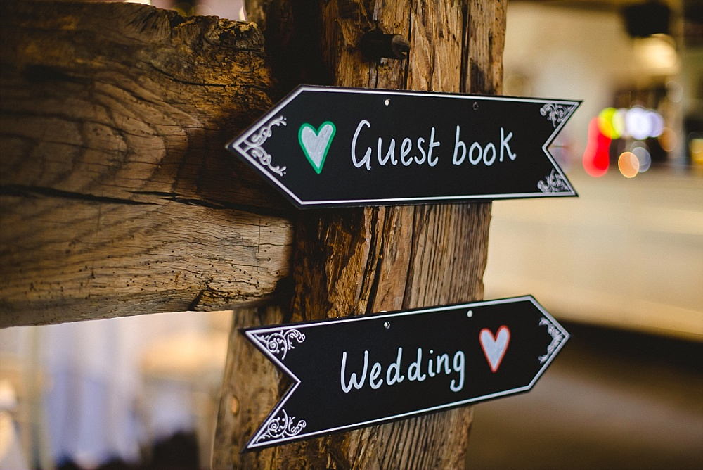 Old Brook Barn Essex Wedding Guest Book Signage