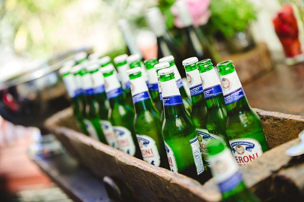 Old Brook Barn Outdoor Wedding Reception Drinks