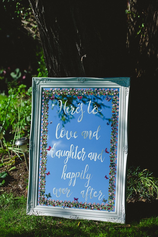 Old Brook Barn Outdoor Wedding Reception Signage