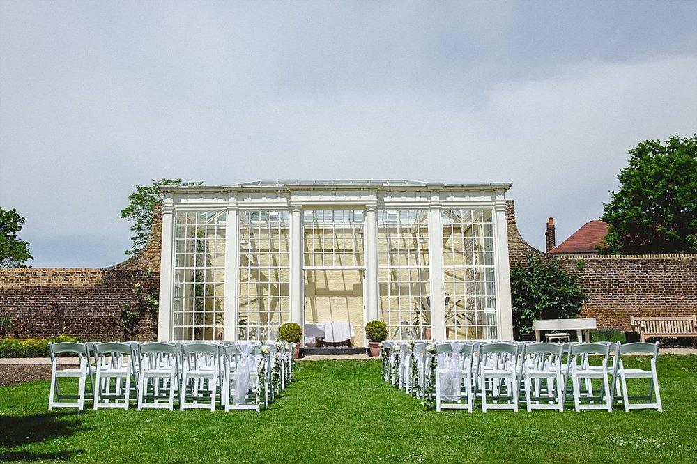 Langtons House Wedding Photographer - Outdoor Ceremony
