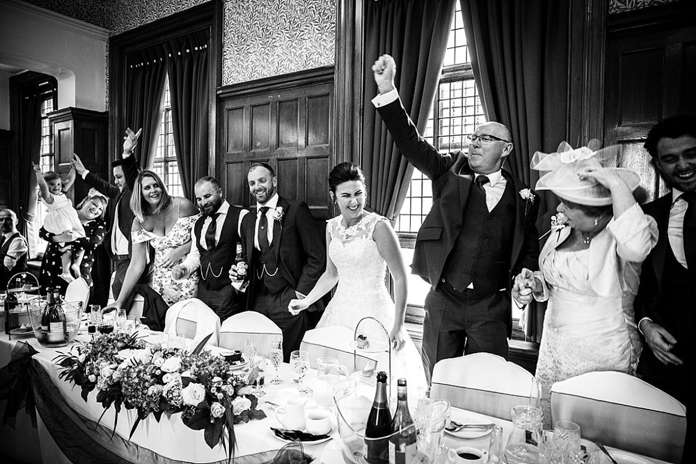 Langtons Wedding Photographer - Reception in the Greater Hall