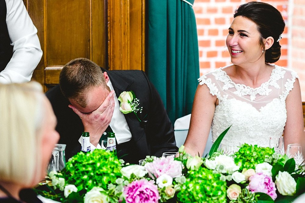 Langtons House Essex Wedding Photographer - Emotional Speeches