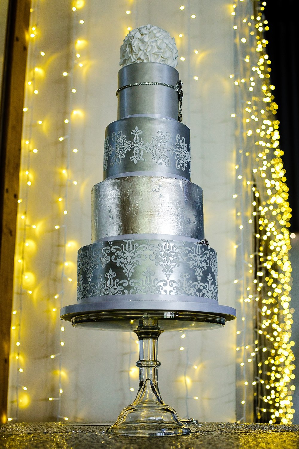 Houchins Wedding Photographer - Four Tier Wedding Cake