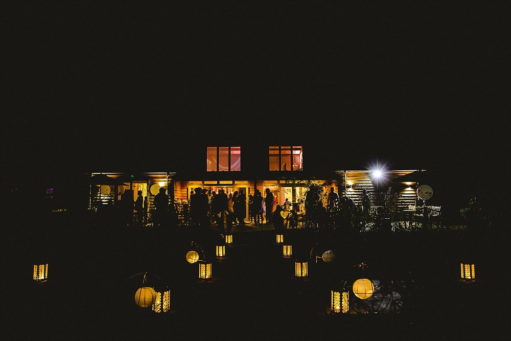 Houchins Wedding Photographer - Essex Barn Venue at Night