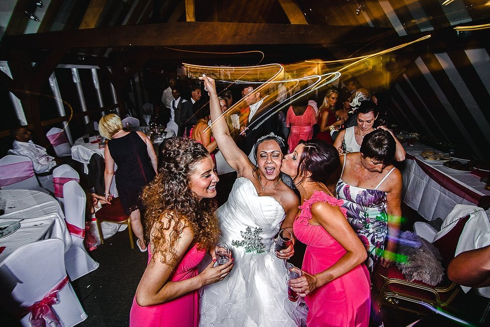 South Essex Golf Club Wedding Photographer Bridal Party on the Dance Floor
