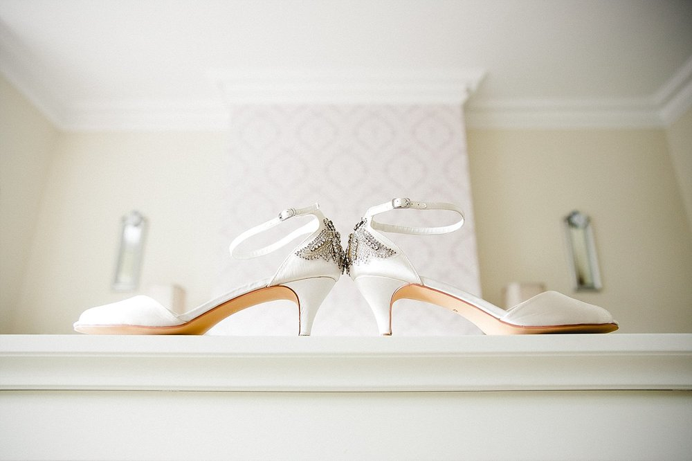 Wedding Photographer Essex - Moor Hall Wedding - Bridal shoes