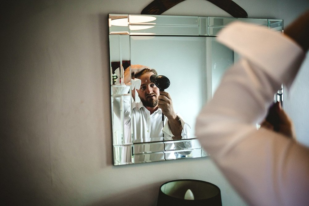 Moor Hall Wedding Photographer - Groom preparations