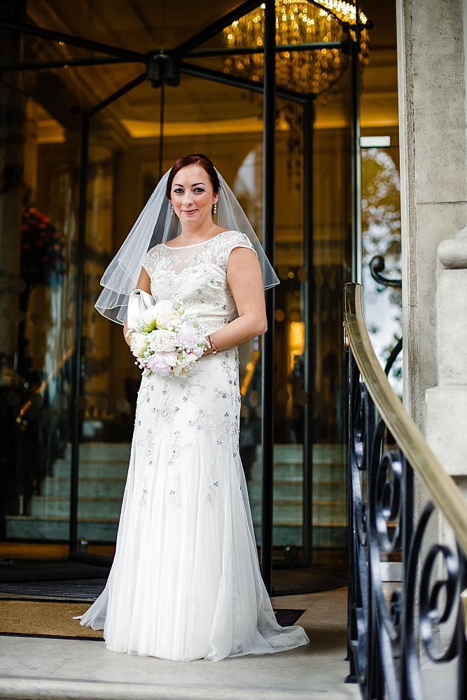 The Langham Hotel London Wedding - Bridal Portrait