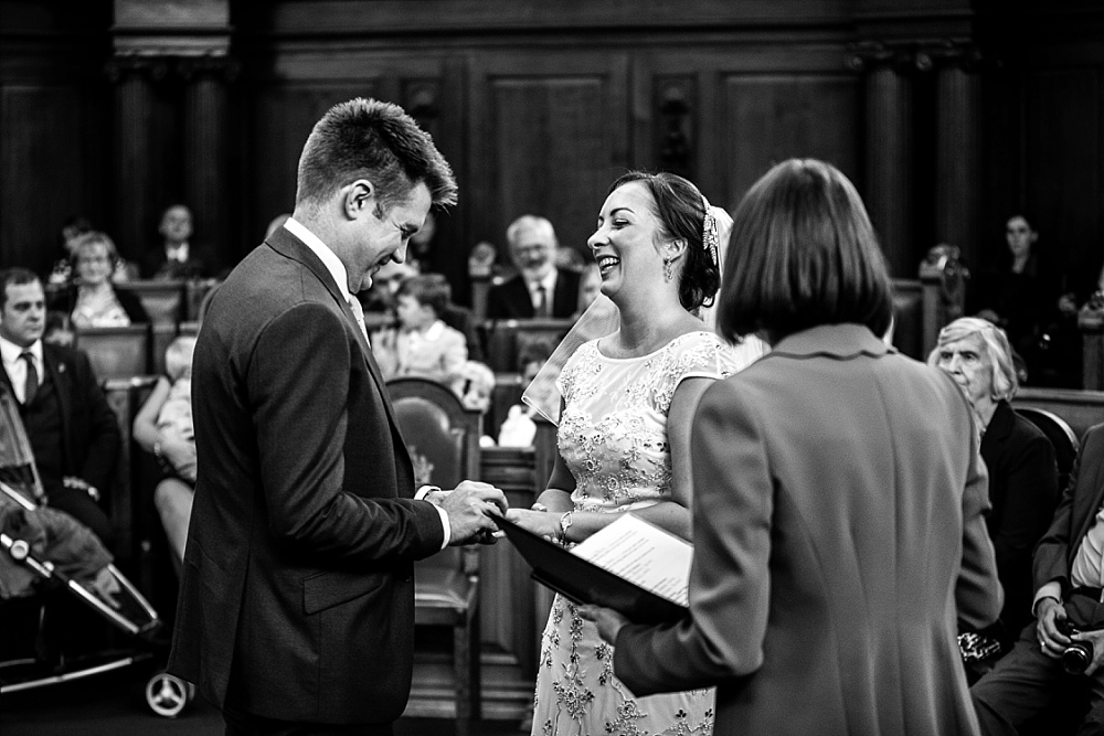 Islington Town Hall Wedding Photographer - Wedding Ceremony Vows
