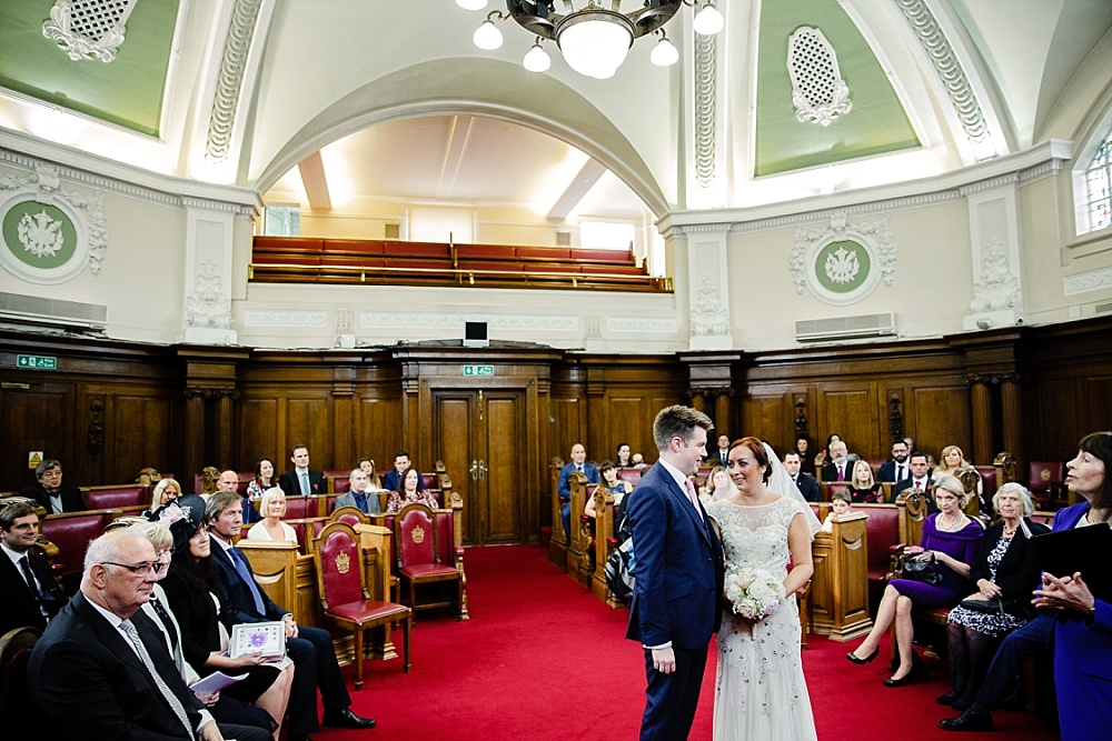 Islington Town Hall Wedding Photographer - Wedding Ceremony Room