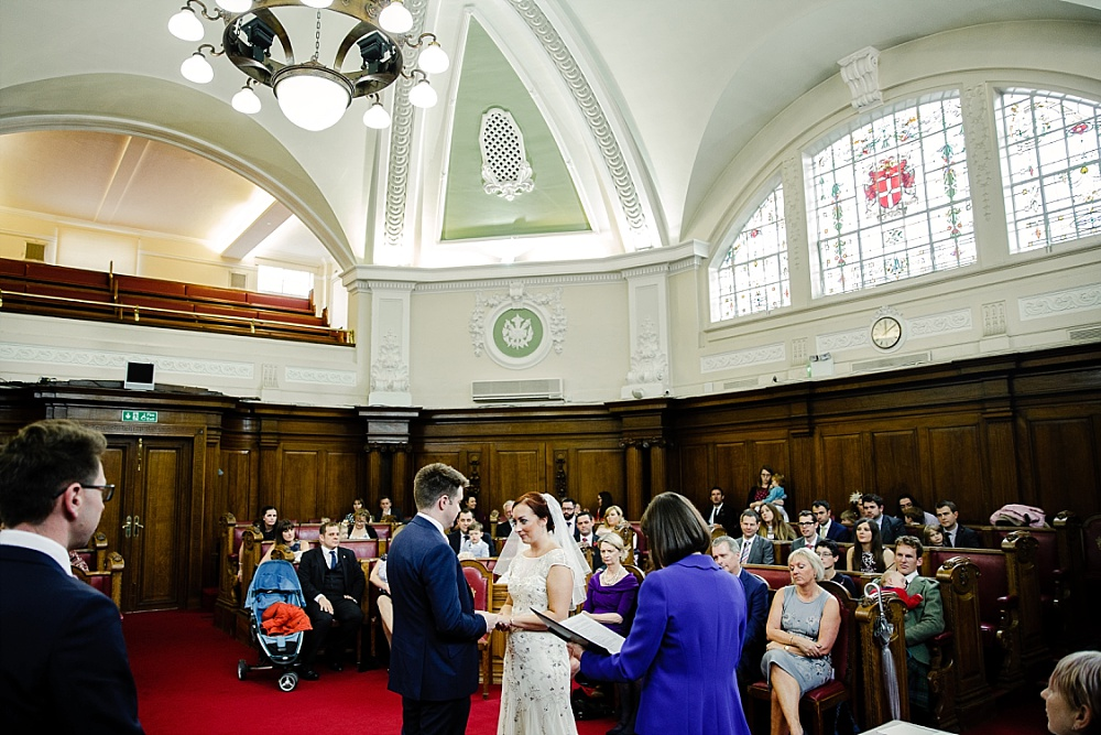 Islington Town Hall Wedding Photographer - Wedding Ceremony