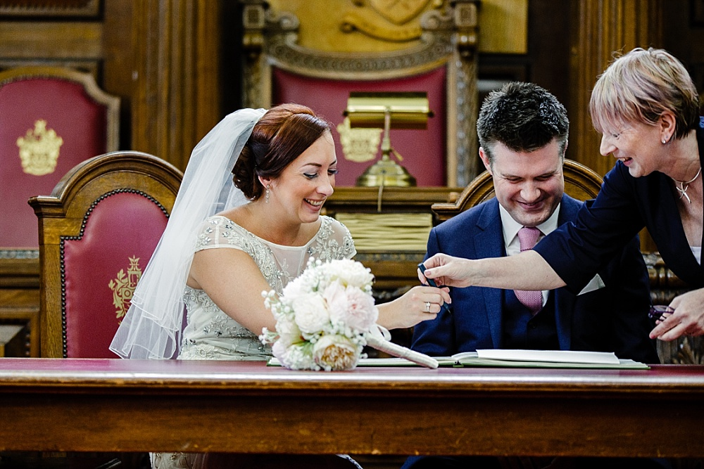 Islington Town Hall Wedding - Registry Signing