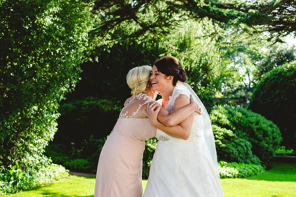 Moor Hall Wedding Photographer - Bride and Sister