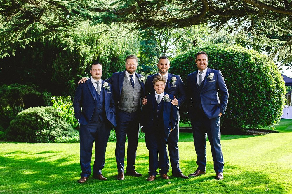 Moor Hall Wedding Photographer - Groom's Party