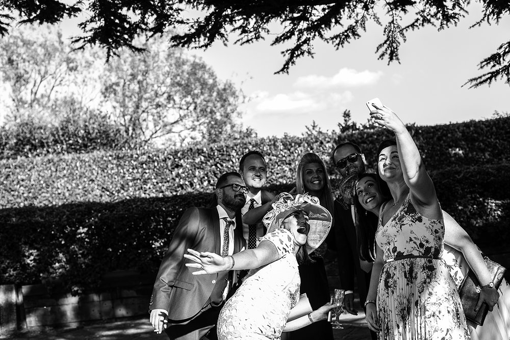 Moor Hall Wedding Photographer - Candid of guests during the reception