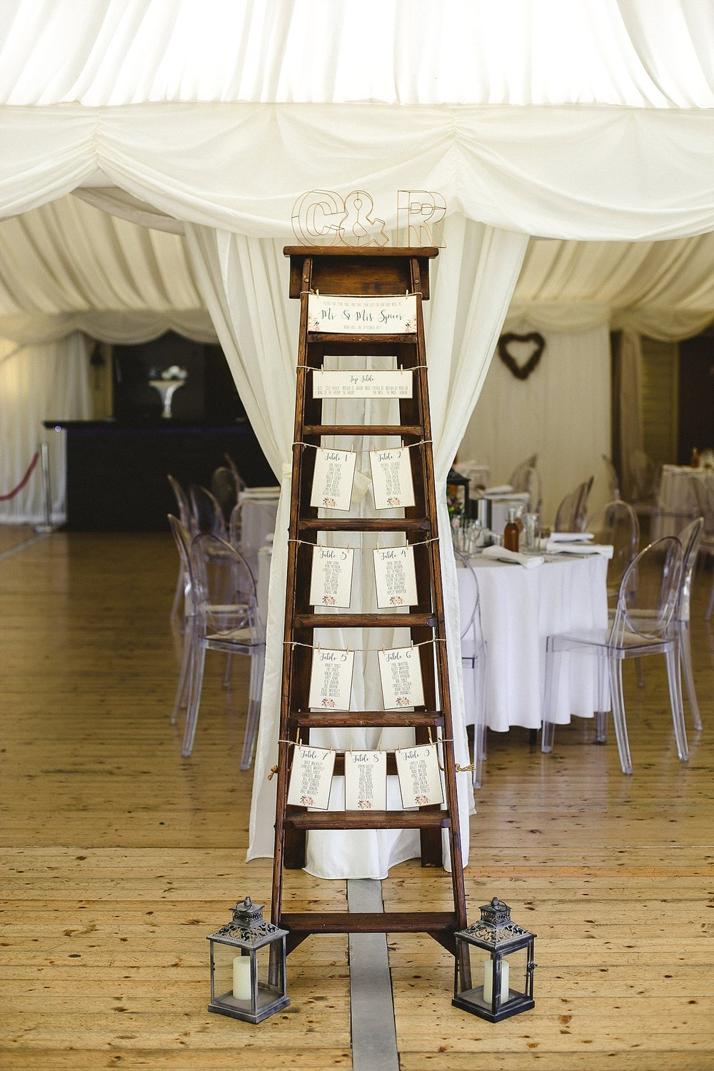 Moor Hall Wedding Photographer - Table Plan