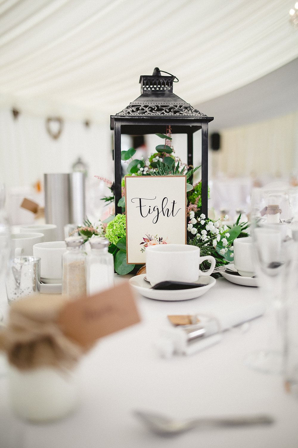 Moor Hall Wedding Venue - Reception Floral Details - Essex Wedding Photographer