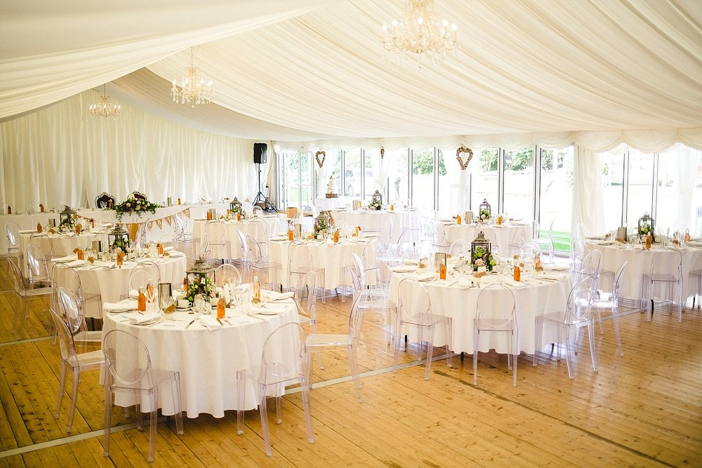 Moor Hall Wedding Venue - Marquee dressed