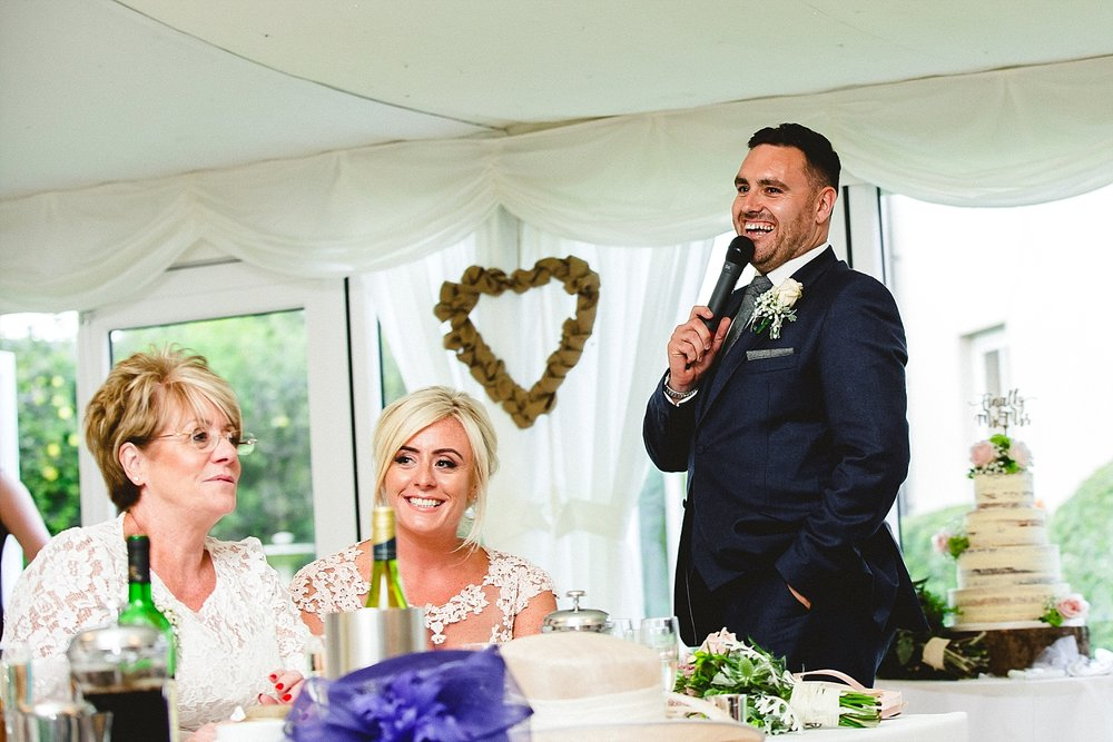 Moor Hall Wedding Photographer - Speeches