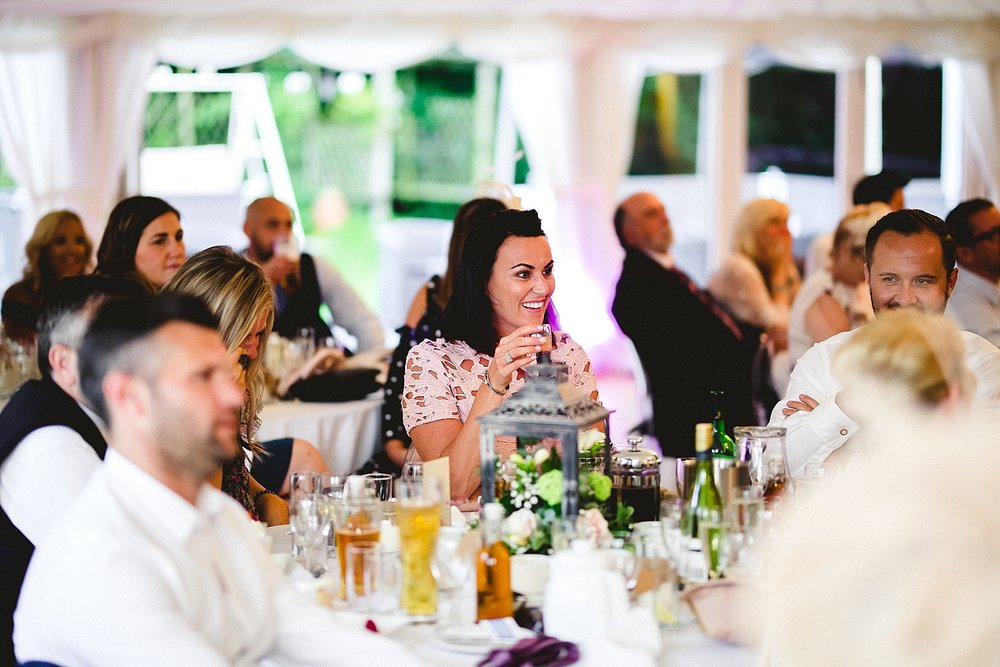 Moor Hall Essex Wedding Photography - Reception Speeches