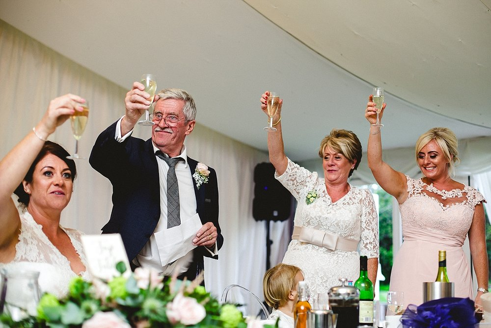 Moor Hall Essex Wedding Photographer - Father of Bride Speech
