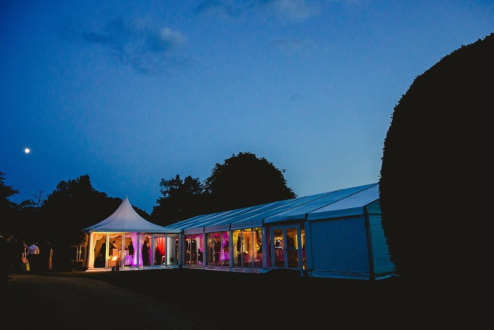Moor Hall Wedding - Essex Wedding Photographer - Venue at Night