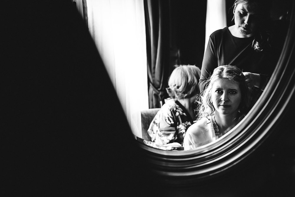 Bridal preparations at Swynford Manor Wedding