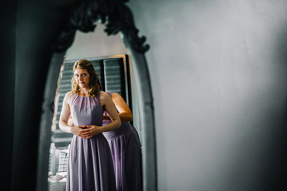Bridesmaid getting ready - Swynford Manor Wedding Photographer