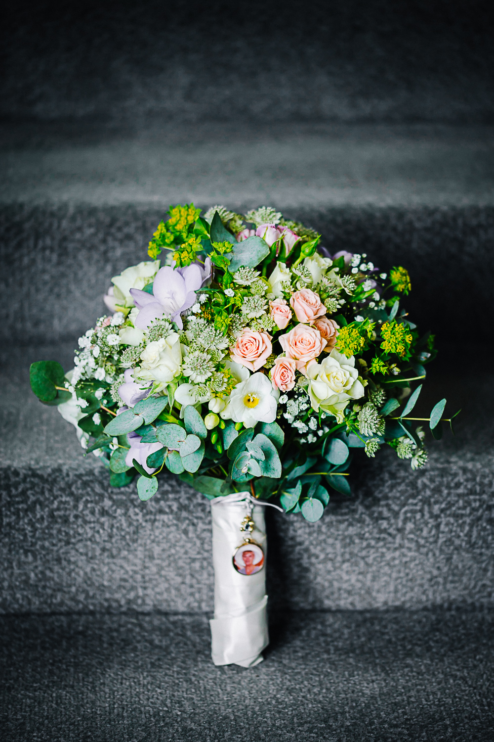 Spring Bouquet at Swynford Manor Wedding - Cambridge Photographer