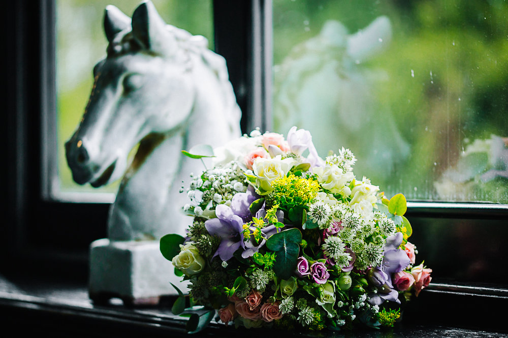 Spring Bouquet at Swynford Manor Wedding - Cambridgeshire Photographer