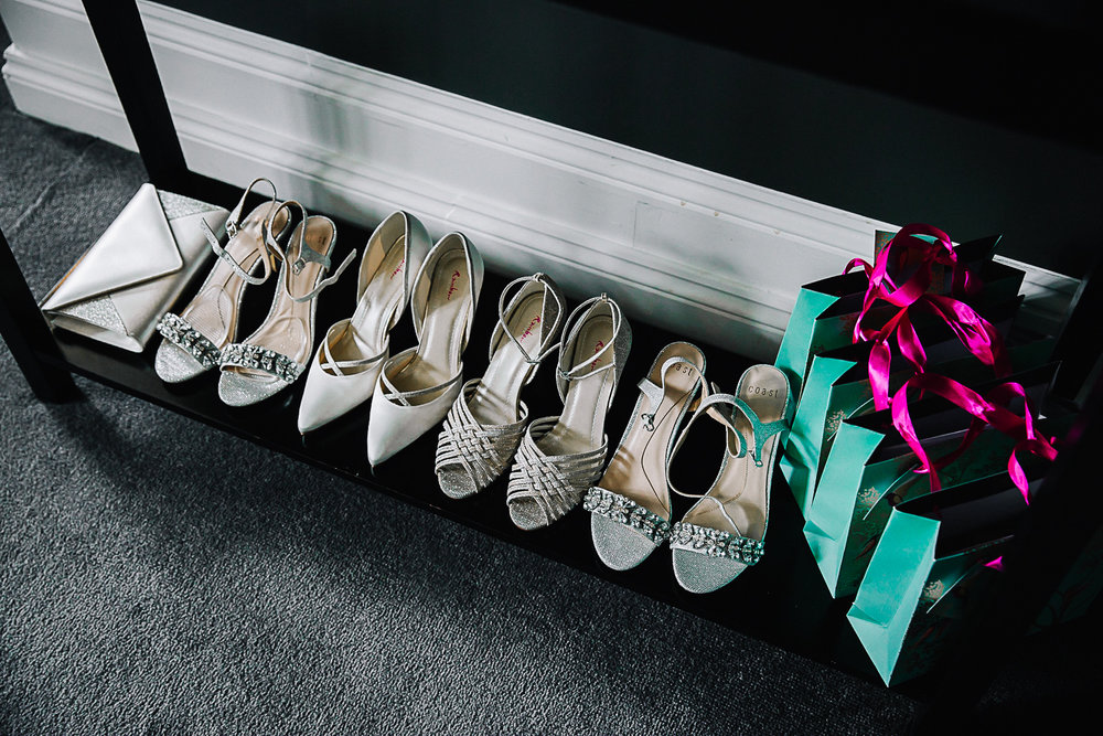 Bridesmaid's Shoes - Swynford Manor Wedding Photography