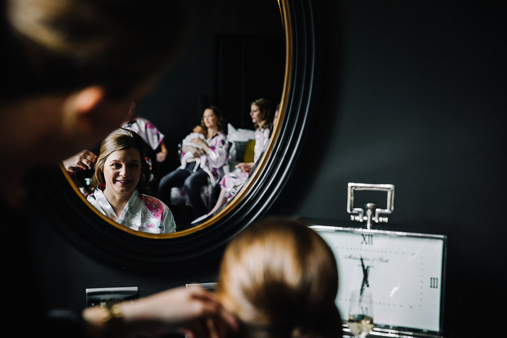 Bride getting ready - Swynford Manor Wedding Photography