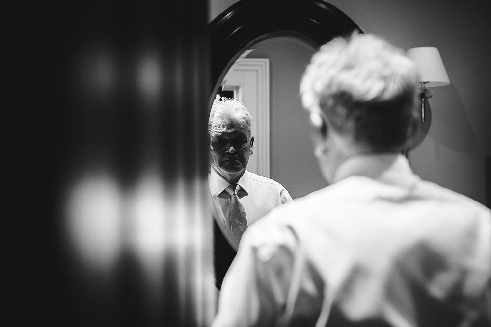 Father of the Bride getting ready - Swynford Manor Wedding Photographer