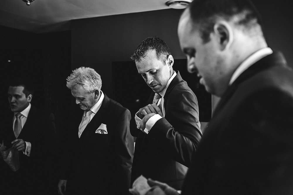 Groomsmen getting ready - Swynford Manor Wedding Photographer
