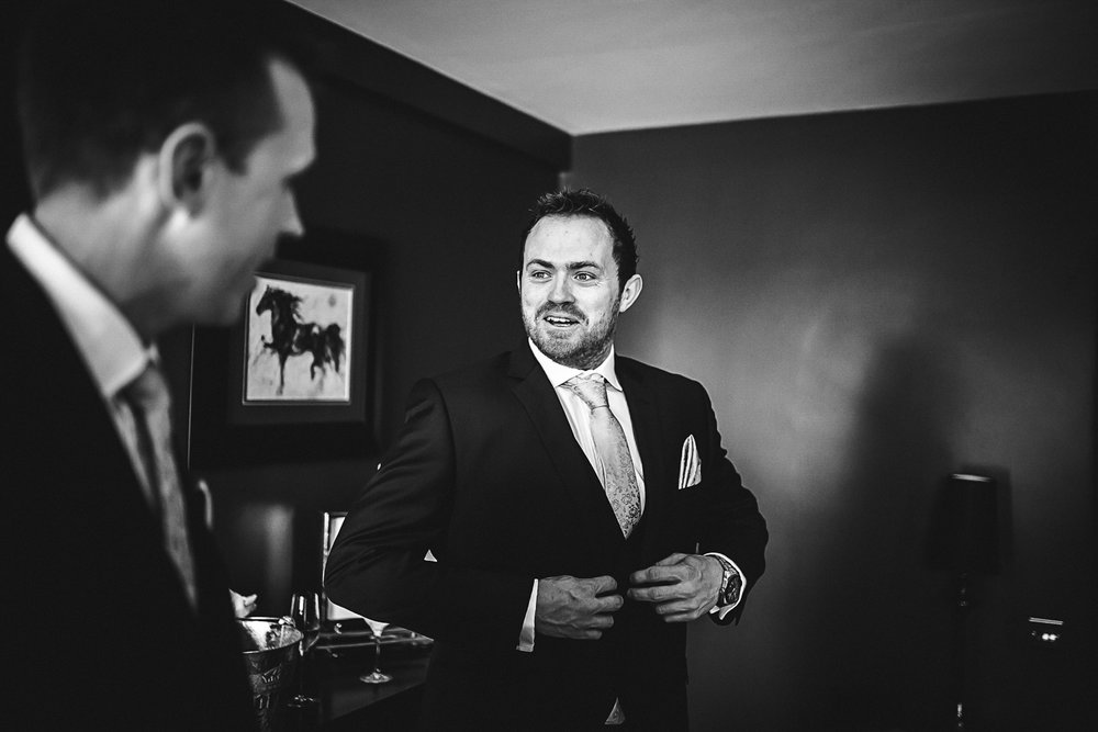Groomsmen getting ready - Swynford Manor Wedding Photography