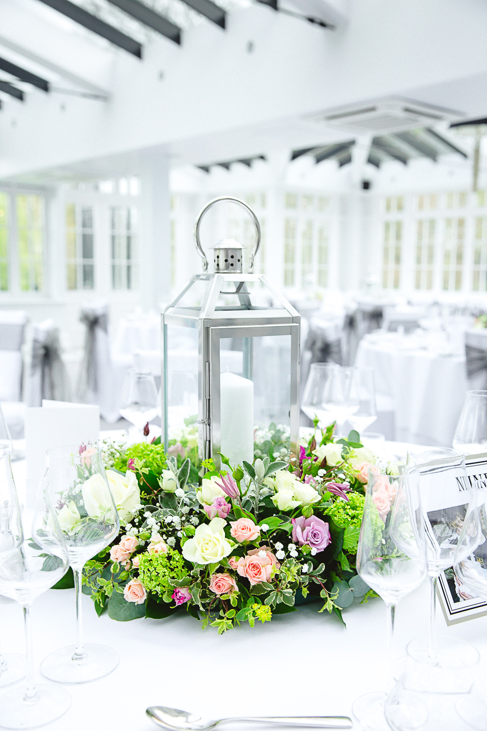 Table Flowers at Swynford Manor Wedding