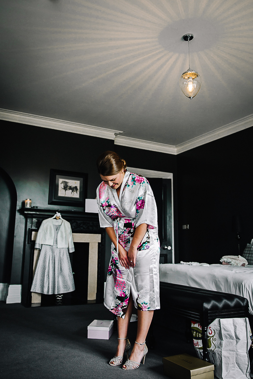 Bride getting ready - Swynford Manor Wedding Photographer