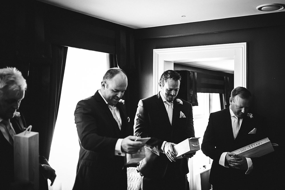Groom's party gifts - Swynford Manor Wedding Photographer